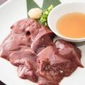 料理メニュー写真新鮮白レバーの炙り鉄板S/L