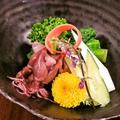 料理メニュー写真【春の味覚】ホタルイカと菜の花の酢味噌がけ