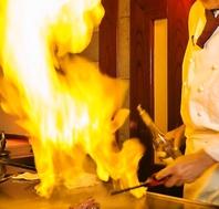 <絶品の味>目の前で調理する鉄板焼き♪デートや接待にも