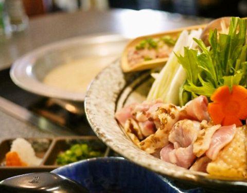 ◇地鶏鍋コース◇+2000円で2h飲み放題付き