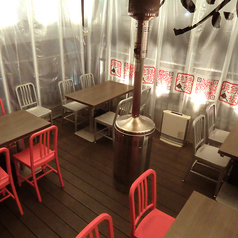 2名様~テーブル席もご用意!最大28名様!完全個室!暖房完備の快適くつろぎ空間テラス席!是非!