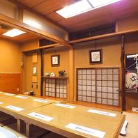 お店の奥には広いお座敷個室。最大16名様まで利用可能。