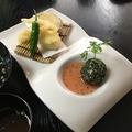 料理メニュー写真おからコロッケと天ぷら
