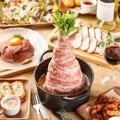 料理メニュー写真ダッジオーブン一押し肉鍋ビッグマウンテン