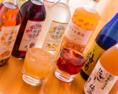 女性に人気の果実酒・杏露酒・ライチ酒・桂花陳酒・林檎酒など10種以上ございます。