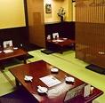 歓送迎会各種ご宴会、また家族や会社の飲み会、会食にお座敷でのお食事をお楽しみ下さい。◆感染症対策で定員18人の個室を12人以下のゆったりしたお席でご案内しております。