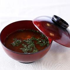 青海苔とお豆腐の赤出汁(小椀)