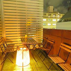 【1日1組様限定】 2名様よりご利用可能なテラス席!雰囲気抜群のテラスと店内♪夜風を感じられます!
