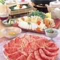 料理メニュー写真すきやき(和牛特選霜降肉)