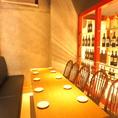 店舗一番奥のテーブル席。最大18名様までOK!こちらは半個室風に使えます。ご予約はお早めに!