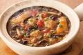 料理メニュー写真酸辣湯食べるスープセット