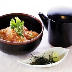 活〆真鯛の胡麻茶漬け(茶碗、急須、お盆)
