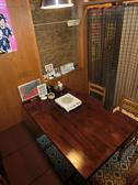 それぞれ個室になったテーブル席。繋げて14名までOK。