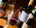 ワインも10種類以上取り揃えています。