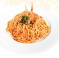 料理メニュー写真ズワイガニのトマトクリームスパゲティー