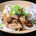 料理メニュー写真地鶏のたたきポン酢和え