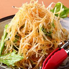 水菜と大根のシャキシャキサラダ