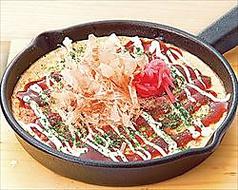 料理メニュー写真牛 しろコロホルモン辛味噌炒め/ぶっタコお好み焼き