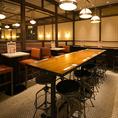様々なテーブル席を多数ご用意♪人数に応じて最適なお席へとご案内いたします★