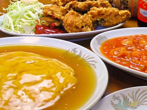 ボリュームたっぷりの中華料理がリーズナブルな価格で食べられるお店。