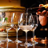 【100mlのグラス売りはワイングラスでご提供】