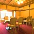 2Fの洋室は4名席×3、2名席×1の個室となっております。個室の貸切もご相談ください。