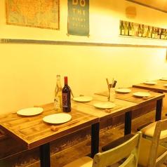 6名様で座れるテーブル席