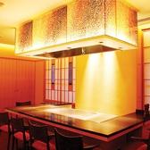 鉄板焼き個室では、鉄板会席をご注文のお客様向けのお部屋になっております。