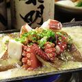 料理メニュー写真豊後特大椎茸と姫島タコの鶏味噌バター炒め