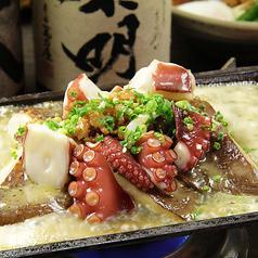 料理メニュー写真豊後だこと特大大椎茸の鶏味噌バター炒め