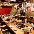 開放的な店内なので自然と宴会が楽しくなります!渋谷店のテーブルはアレンジ可能なので少人数での宴会、大人数での宴会どちらも対応いたします!宴会をされる際に人数のことや食べ放題のメニューに関してやご要望などがございましたらお気軽にお問い合わせください。