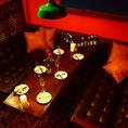 ずっしりした重厚感あるソファー席♪合コンや女子会で大人気のこちらのお席◎ご予約はお早めに、、、