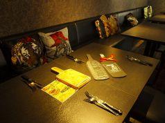 最大16名までOKのテーブル席☆メニューも手作りでかわいい♪