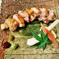料理メニュー写真比内地鶏 もも肉炙り
