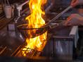 備長炭で焼き上げる一品は絶品。