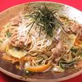 料理メニュー写真博多屋台の焼きラーメン