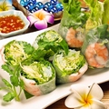 料理メニュー写真海老と野菜の生春巻き