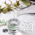【酒】日本酒・焼酎も銘柄酒が充実。