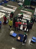 地物市場へ直接買い付けに行き新鮮な魚貝を仕入れる。