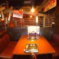 4名様までOKのテーブル席。小鉄でスタンダードなお席です。ご家族でのお食事やデート、少人数で使いやすいお席です!