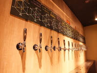 18種類全国のクラフトビールを厳選