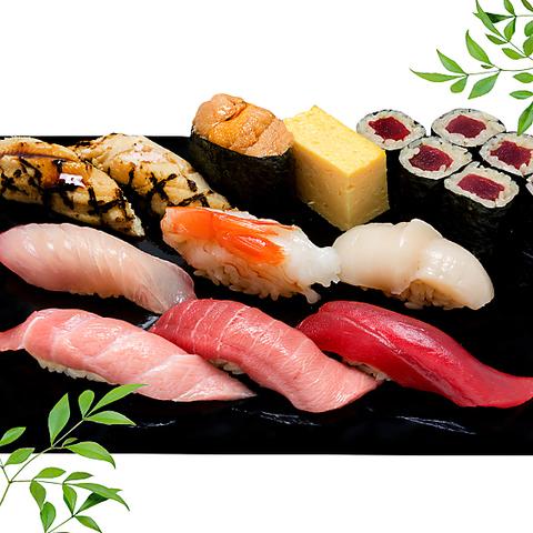 築地で味わう本格寿司。江戸伝統の赤シャリと、全国各地の海の幸で握った寿司