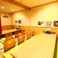 【1階の特等席】掘りごたつの個室を2つ繋げて最大16名様までご利用頂ける完全個室に早変わり!各種ご宴会で是非!
