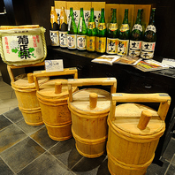 【こだわりの日本酒も楽しめる飲み放題メニュー】