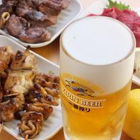 【破格】焼き鳥/焼肉/刺身/ビール等♪