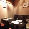 2~4名様の、完全個室席。テーブル席が良い方に