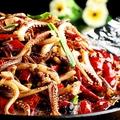 料理メニュー写真ゲソ鉄板焼き/エビマヨネーズ/海鮮おこげ