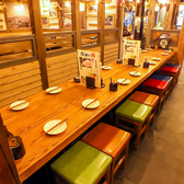 16名様前後のテーブル席。ご宴会も誕生日・記念日も塚田で♪