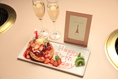 記念日コースでケーキ・シャンパンを…☆