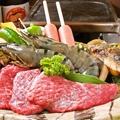 料理メニュー写真石焼き盛り合わせ ~肉・海老・鶏・魚・イカ~